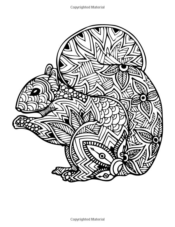 relaxation animal coloring pages icolor quotwoodland creaturesquot zentangle animals coloring pages relaxation coloring animal