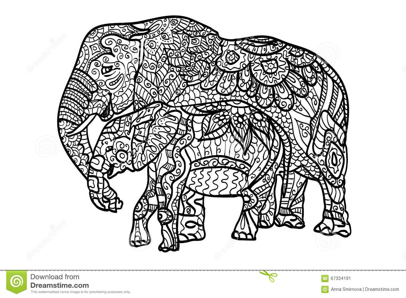 relaxation animal coloring pages relaxing coloring elephants stock illustration coloring relaxation animal pages