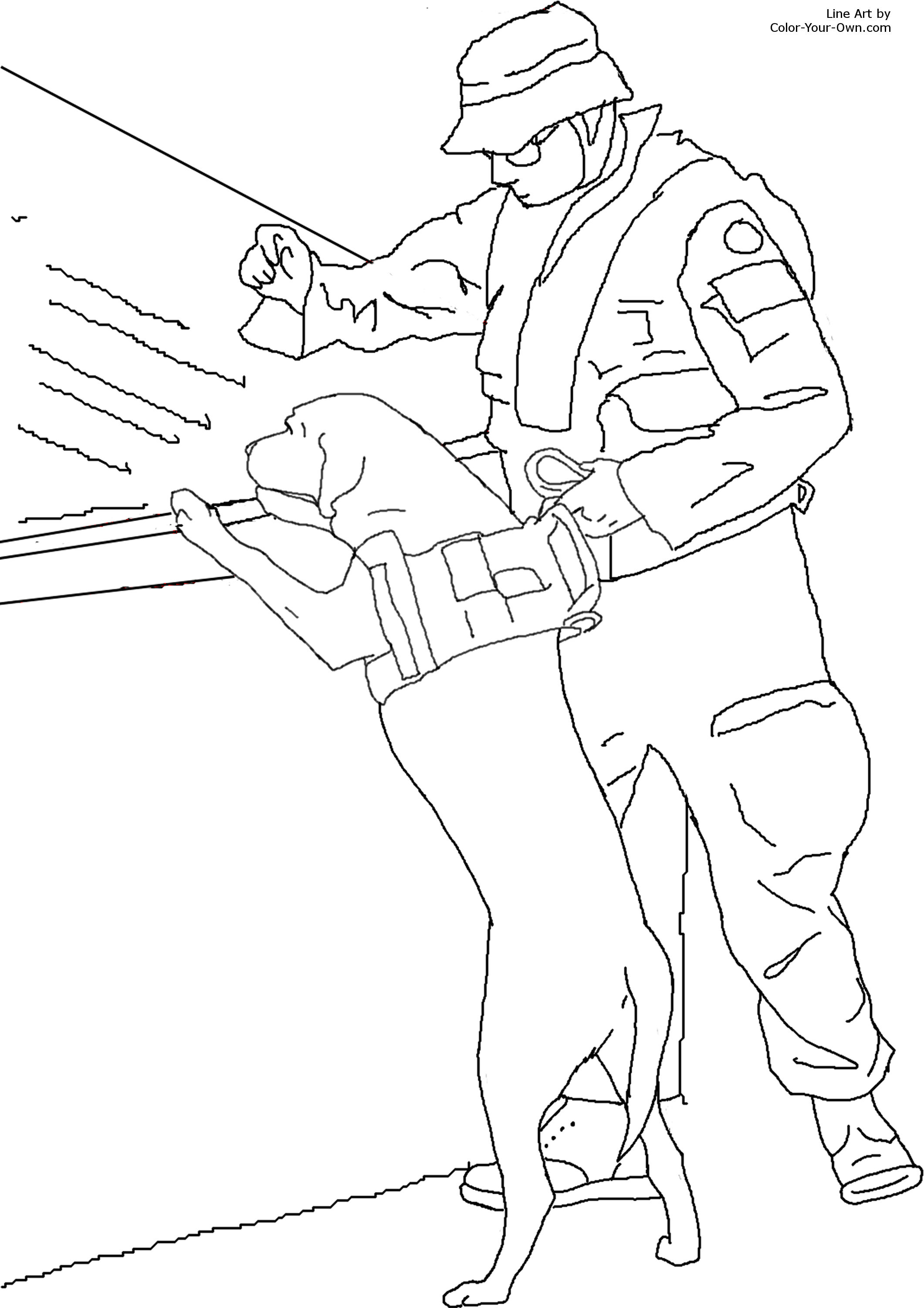 rescue dog coloring pages bomb sniffing dog coloring page pages dog coloring rescue