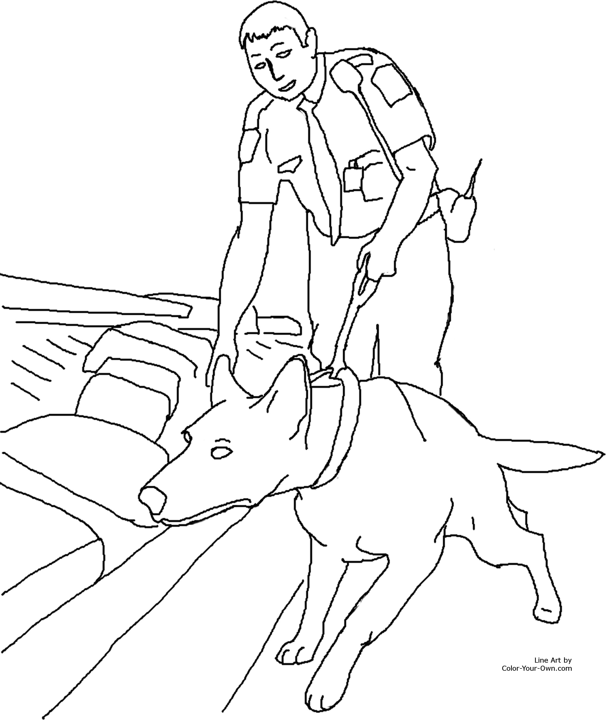 rescue dog coloring pages drug detection service dog coloring page pages coloring rescue dog