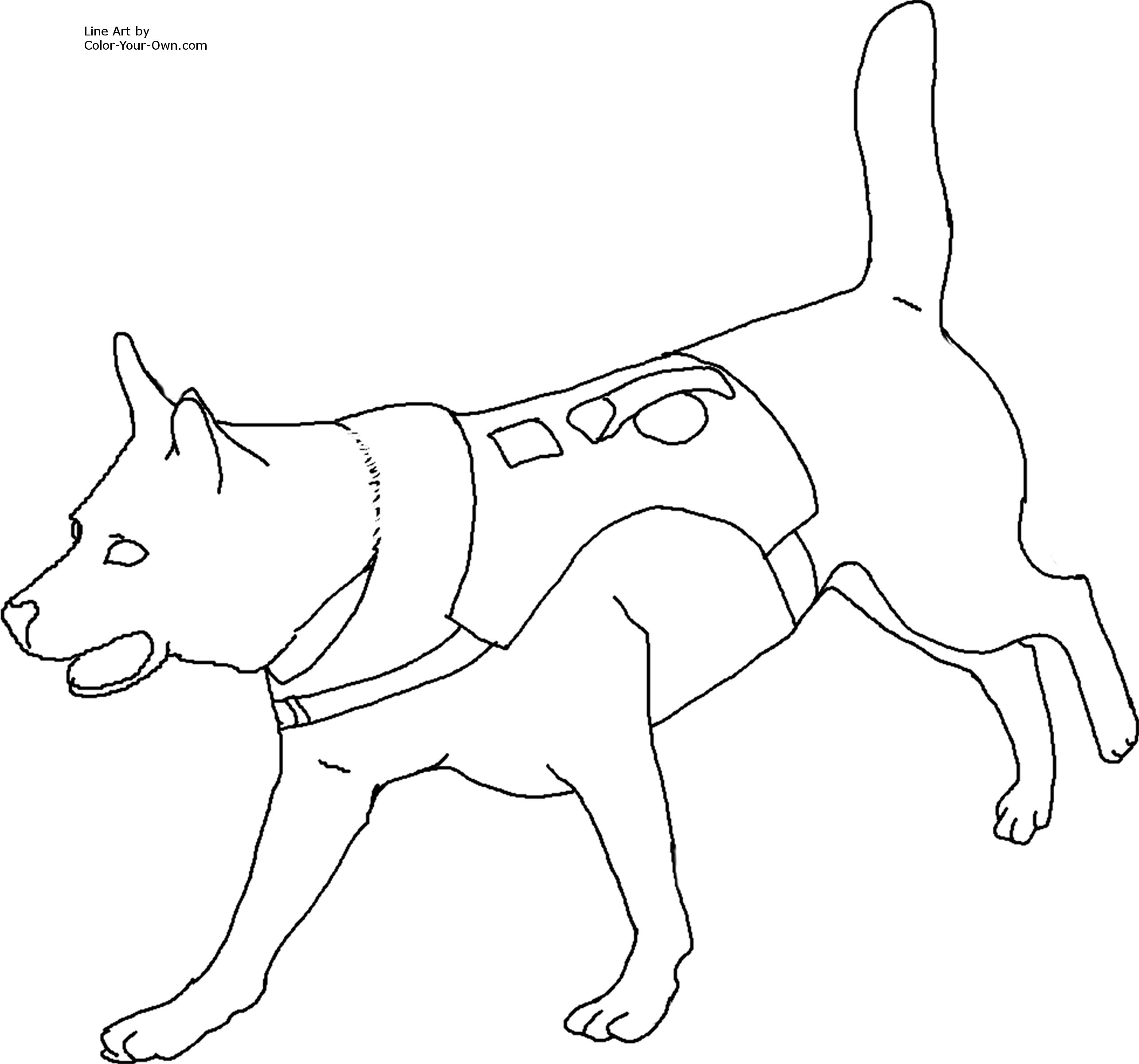 rescue dog coloring pages fbi search and rescue dog clipart clip art library rescue coloring dog pages