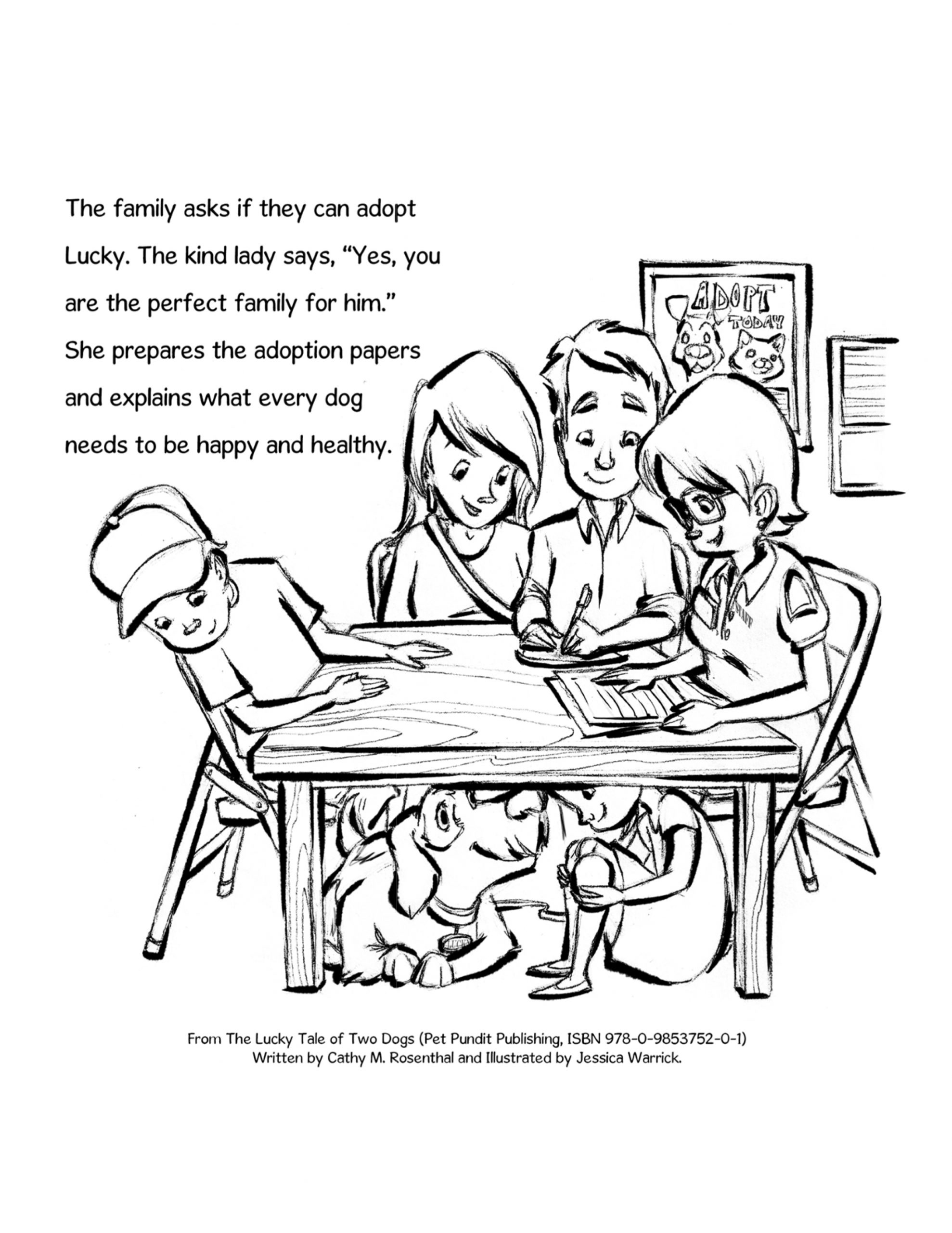 rescue dog coloring pages lucky dog coloring page adoption at animal shelter pet pages coloring dog rescue