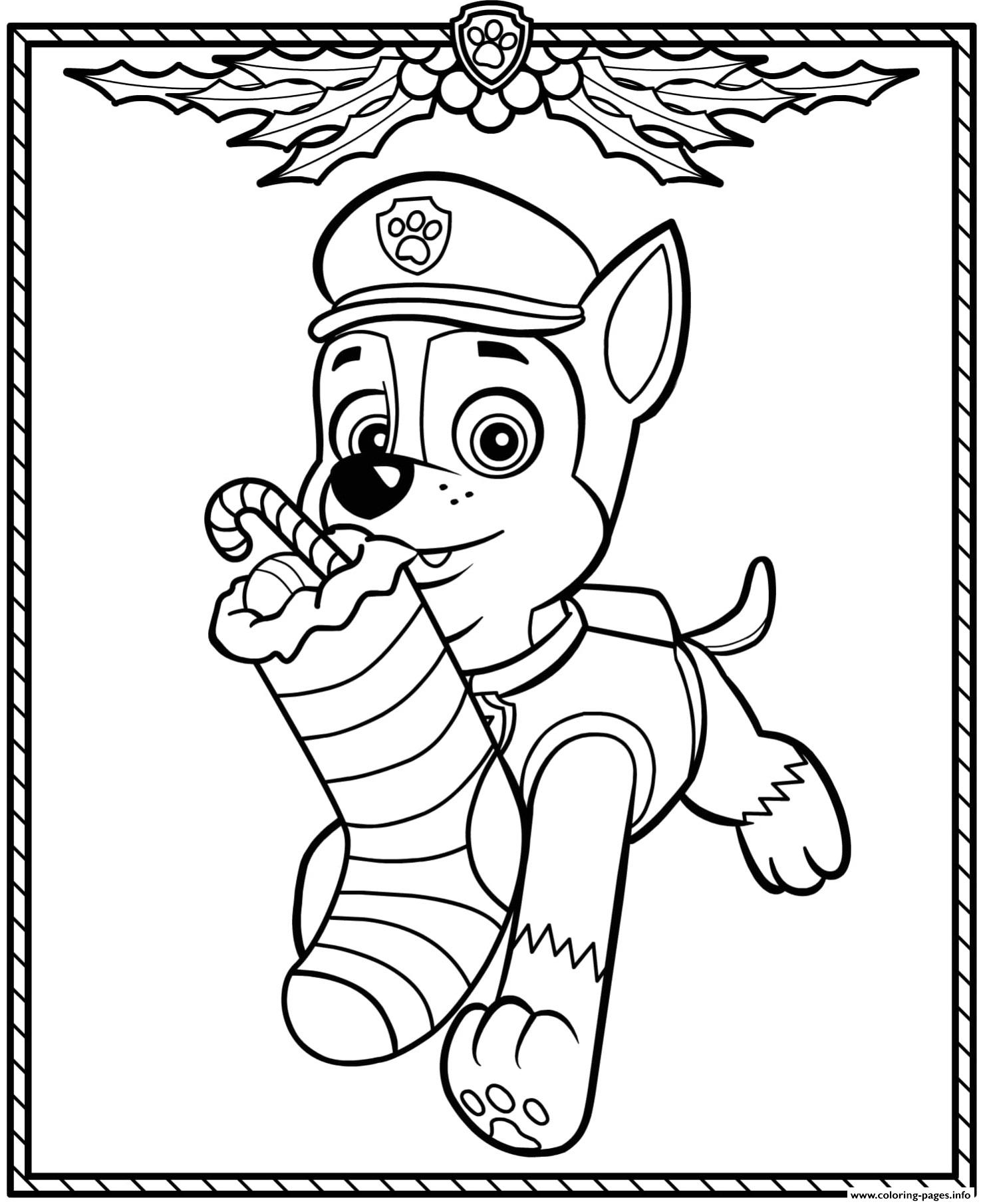 rescue dog coloring pages paw patrol holiday christmas chase coloring pages printable dog coloring rescue pages