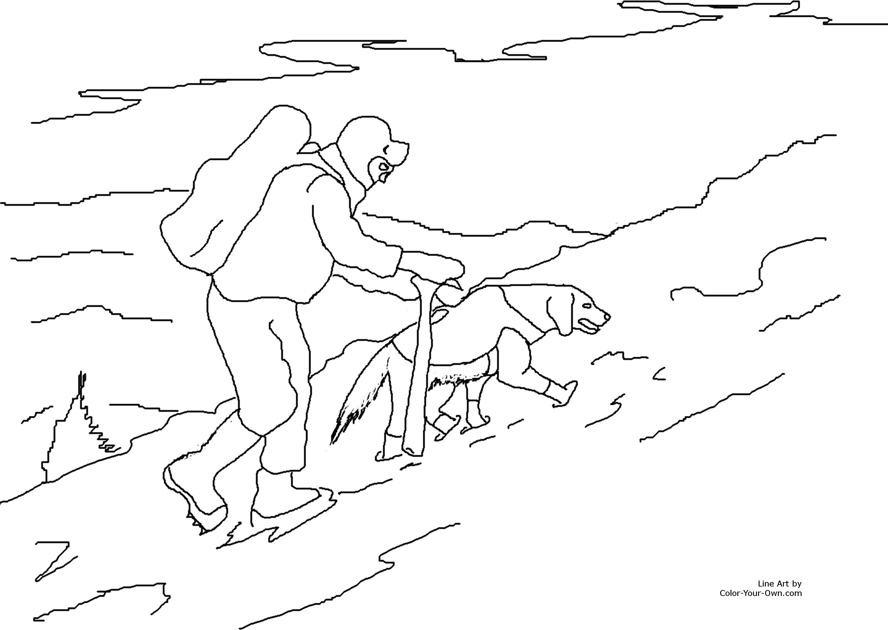 rescue dog coloring pages search and rescue dog in snow coloring page coloring dog pages rescue