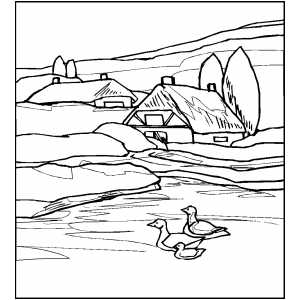 river coloring pages printable cottages near river coloring page river coloring pages printable
