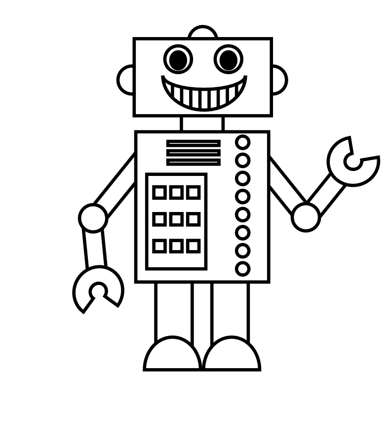robot pictures to print free easy to print robot coloring pages tulamama print pictures to robot