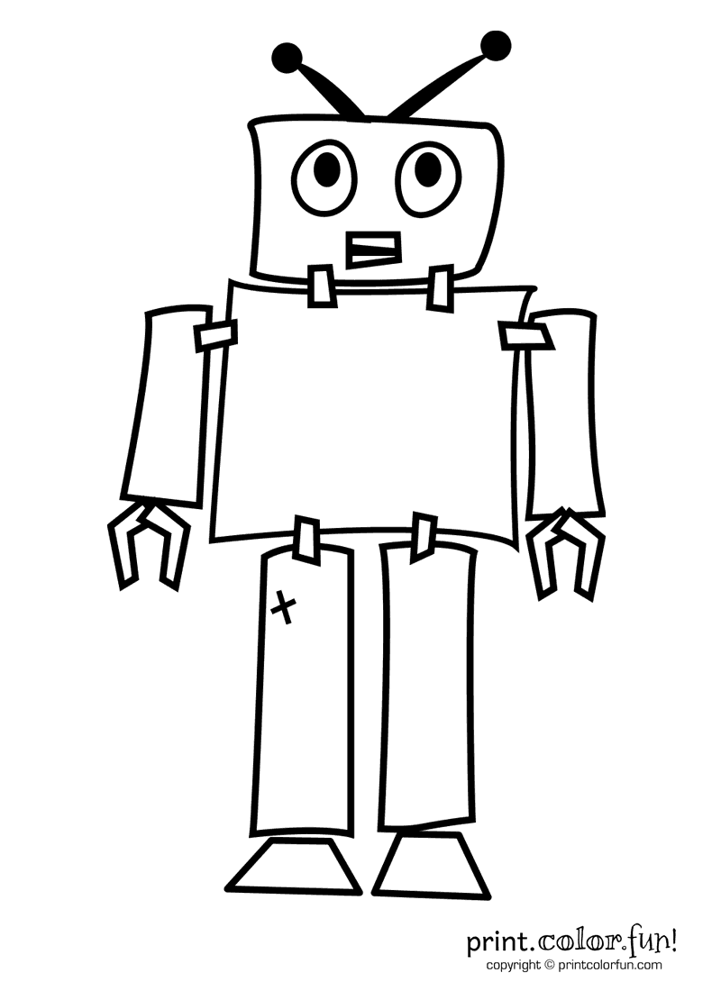 robot pictures to print free easy to print robot coloring pages tulamama to robot pictures print