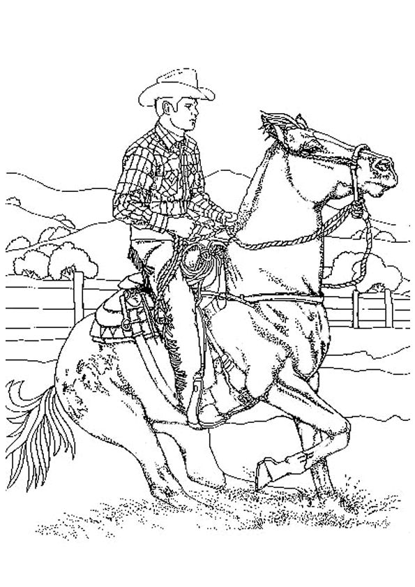 rodeo coloring pages coloriage cowboy 9gif 595841 horse coloring pages coloring pages rodeo