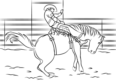 rodeo coloring pages saddle bronc rodeo coloring page free printable coloring pages rodeo coloring