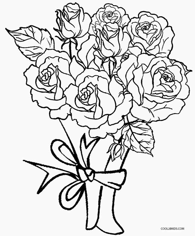 roses coloring printable rose coloring pages at getcoloringscom free coloring roses