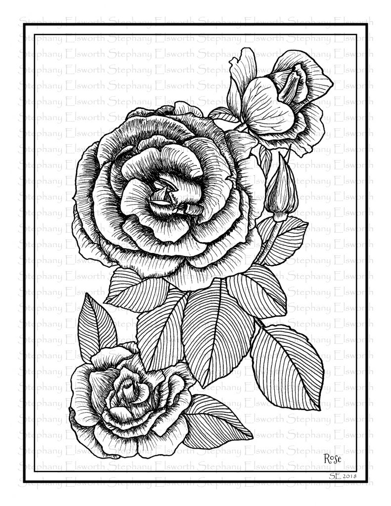 roses coloring rose and cross coloring pages at getcoloringscom free roses coloring
