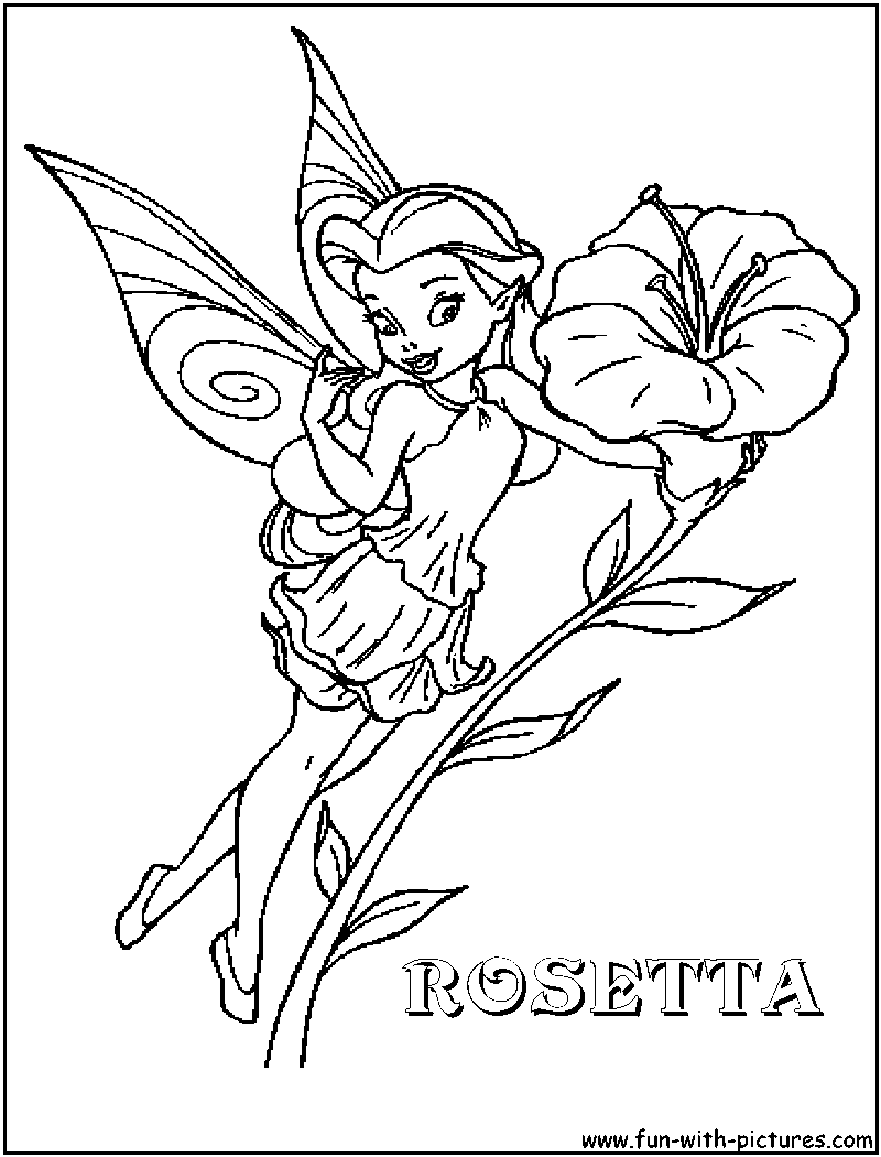 rosetta fairy coloring pages rosetta coloring page disney fairies pinterest pages rosetta coloring fairy