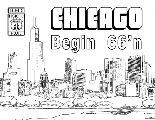 route 66 coloring pages chicago illinois skyline coloring page download pages coloring route 66