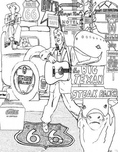 route 66 coloring pages famous route 66 on the map of usa coloring page free pages coloring route 66