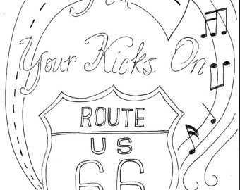 route 66 coloring pages instant download vintage truck printable coloring page etsy 66 pages route coloring