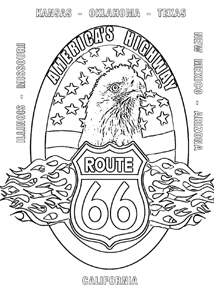 route 66 coloring pages on route 66 coloring pages printable free cadillac 66 route pages coloring