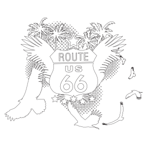 route 66 coloring pages route 66 coloring page pages 66 route coloring