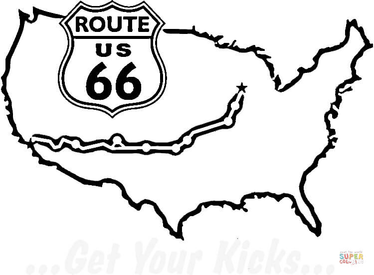 route 66 coloring pages route 66 urban threads unique and awesome embroidery route pages coloring 66