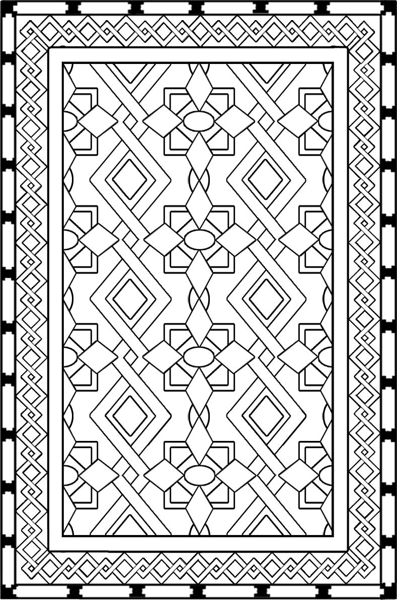 Rug coloring page