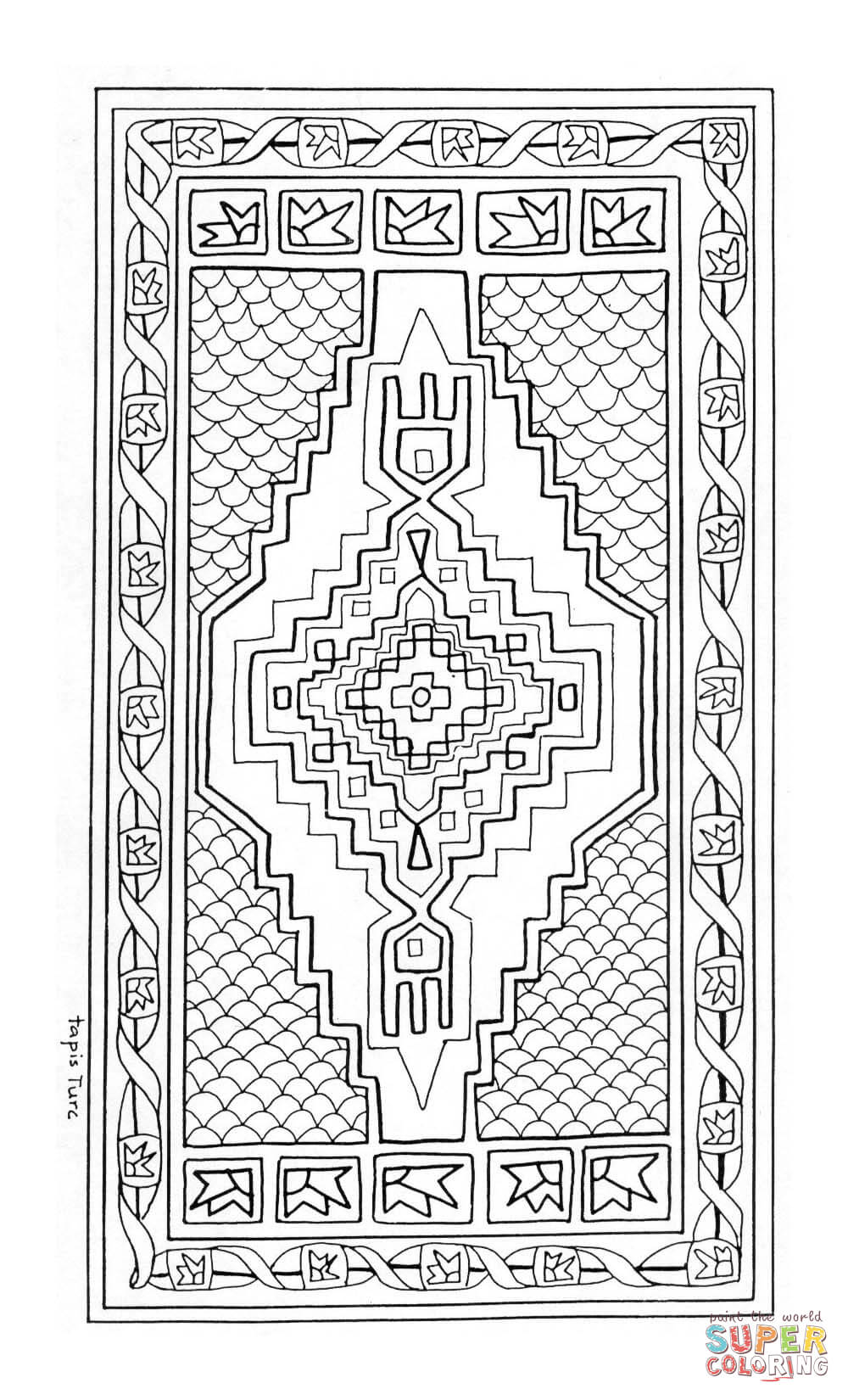 rug coloring page rug coloring page clip art sketch coloring page rug coloring page