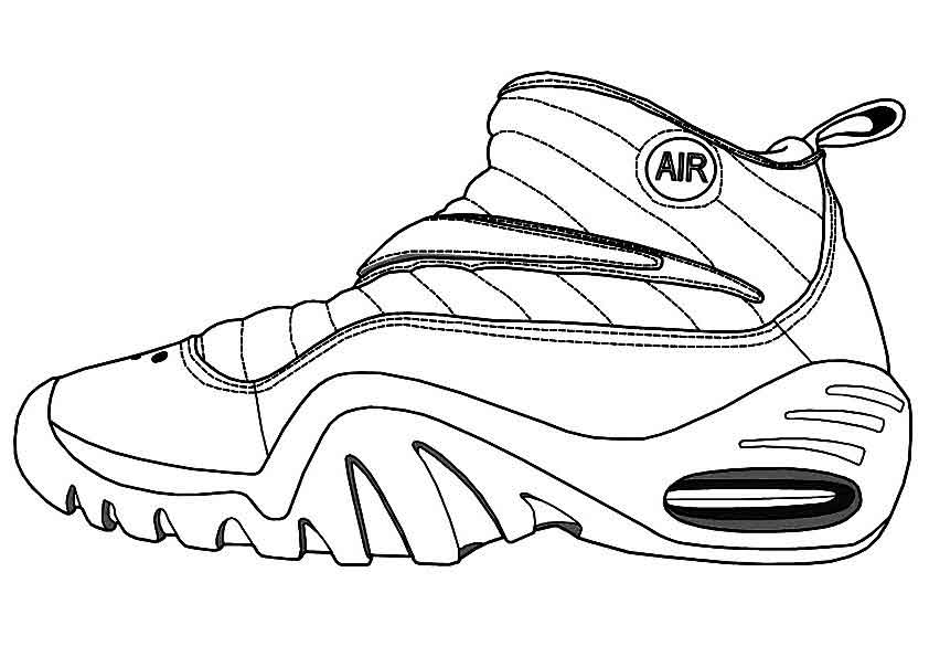 running shoes coloring pages outline of a running shoe clipart best shoes pages running coloring
