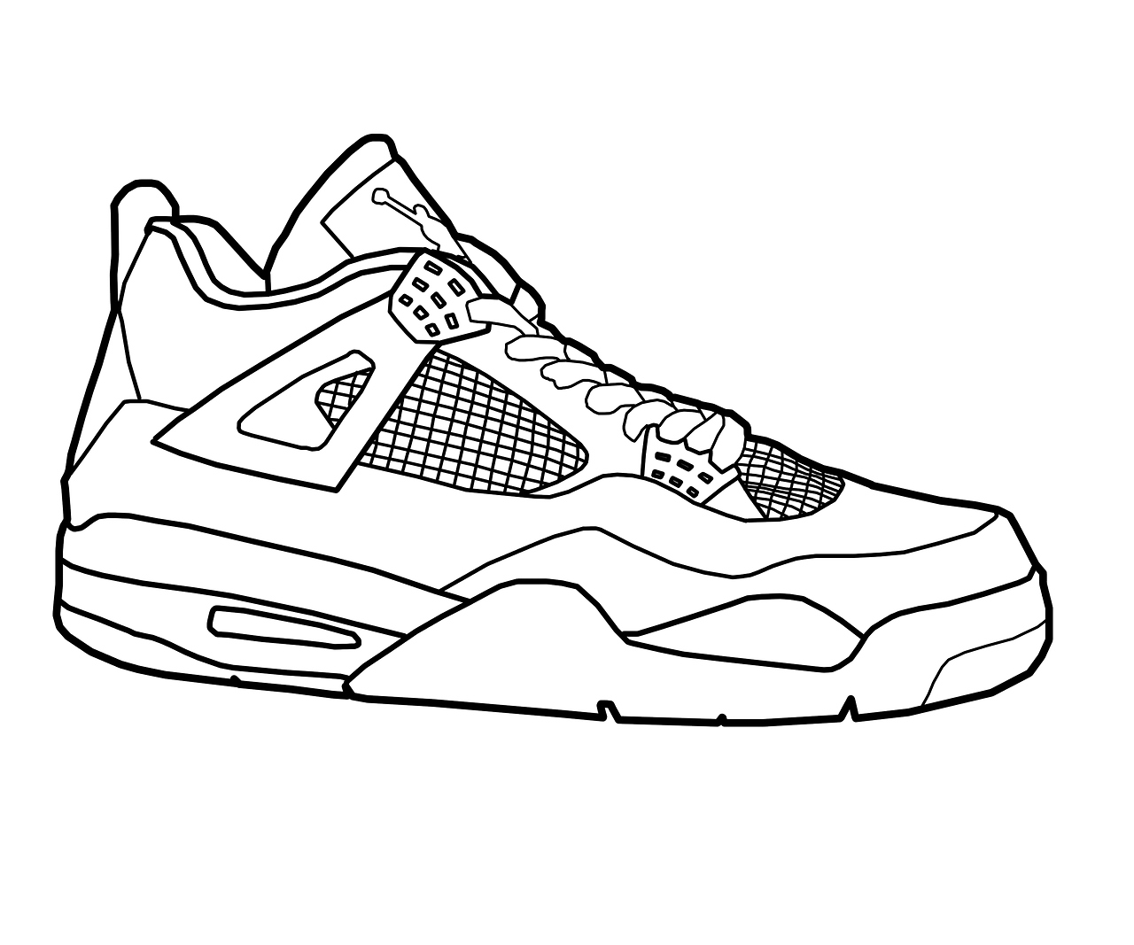 running shoes coloring pages running shoe coloring page at getcoloringscom free coloring shoes running pages
