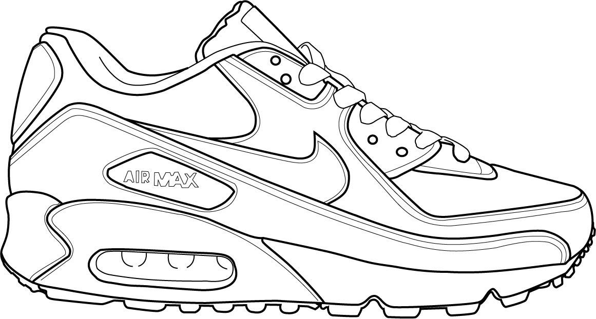 Running shoes coloring pages