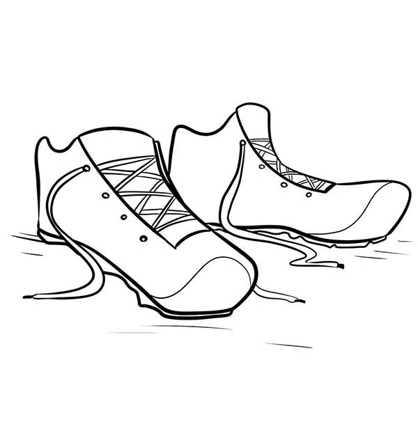 running shoes coloring pages running shoes drawing at getdrawings free download pages coloring shoes running