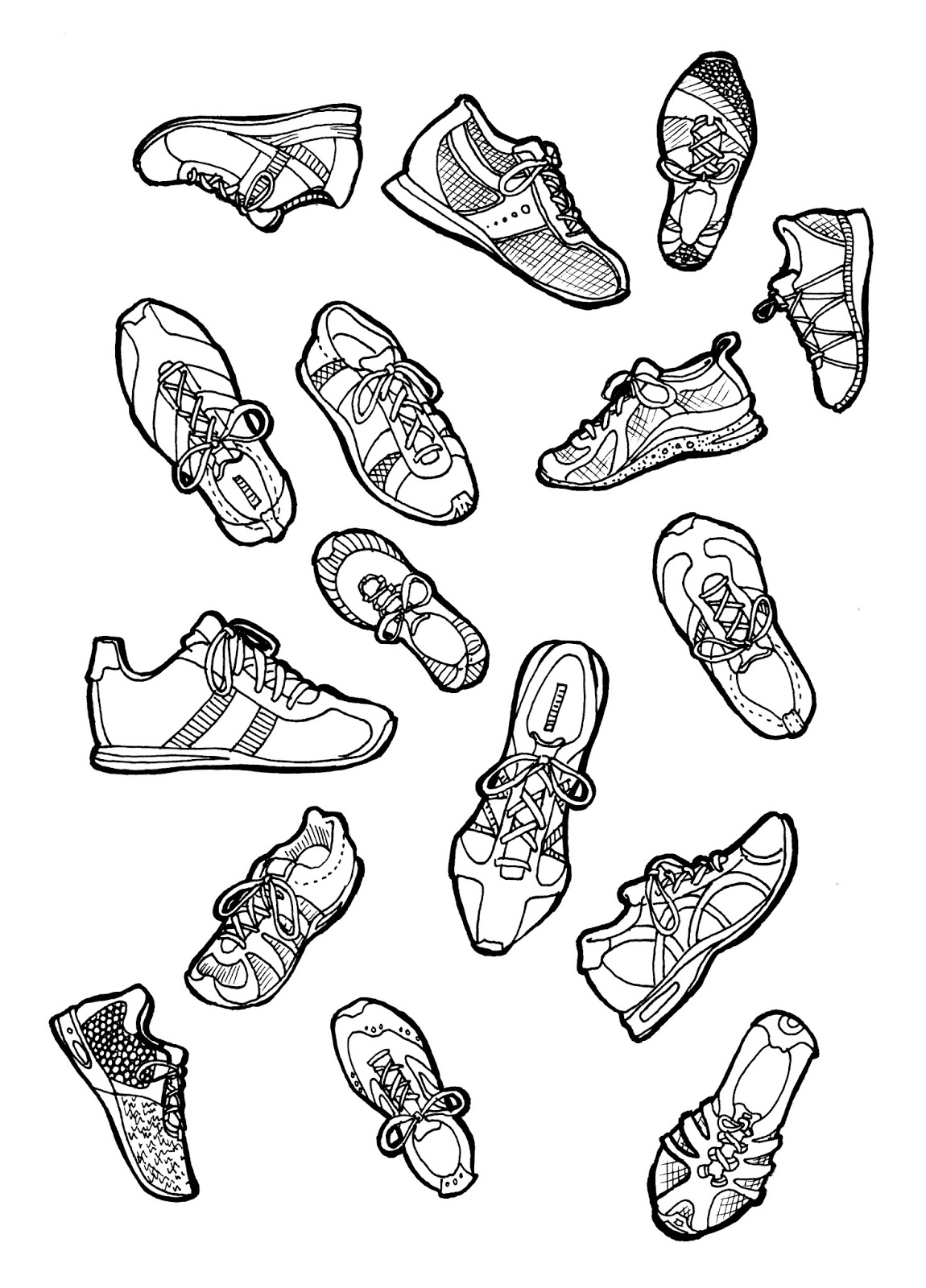running shoes coloring pages sketches of nike shoes coloring pages running coloring pages shoes