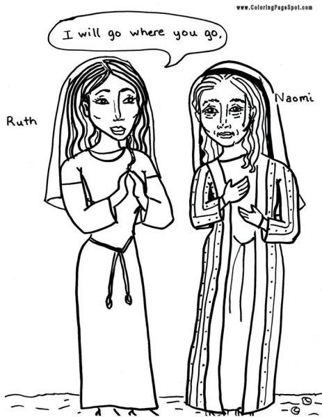 ruth and naomi coloring page 61 best images about bible ruth on pinterest maze coloring naomi and page ruth