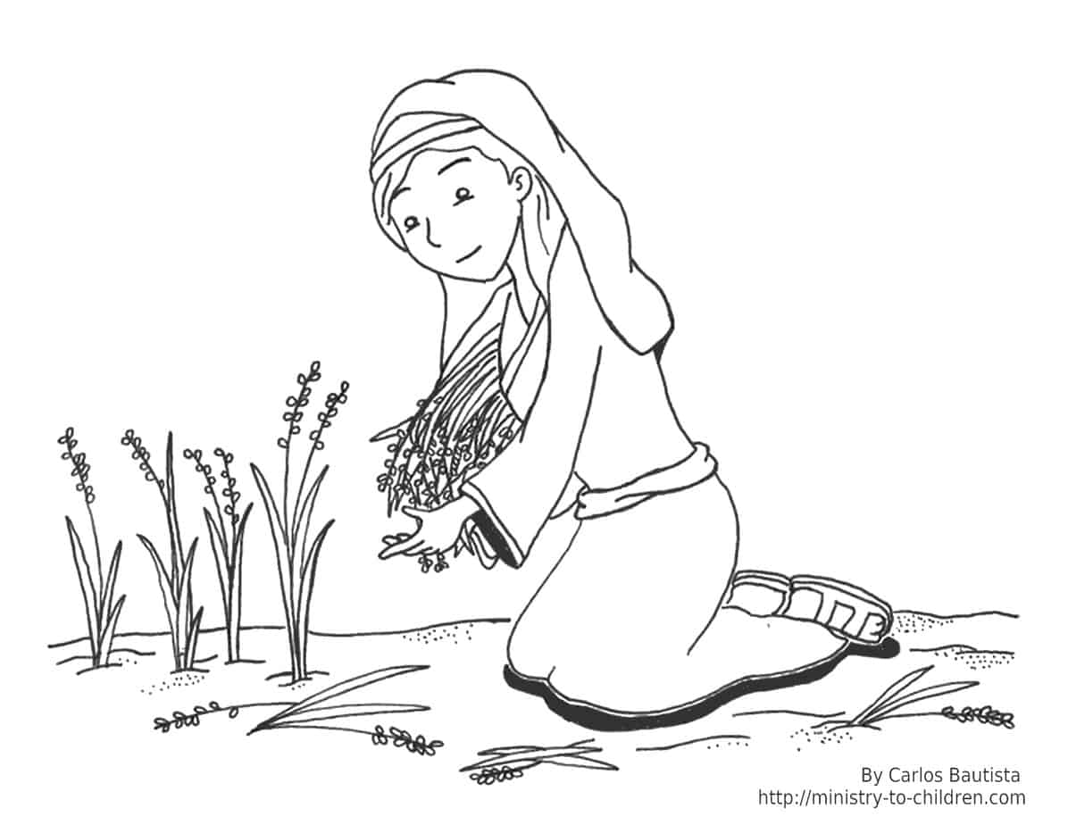 ruth and naomi coloring page bible story of ruth and naomi for children free ruth coloring page naomi and