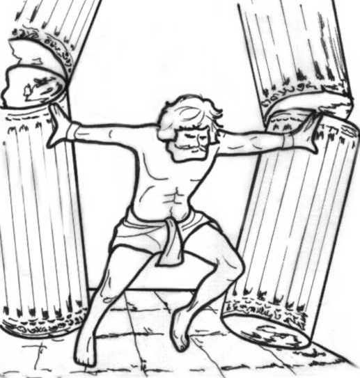 samson and delilah coloring pages pin on sunday school delilah coloring pages and samson