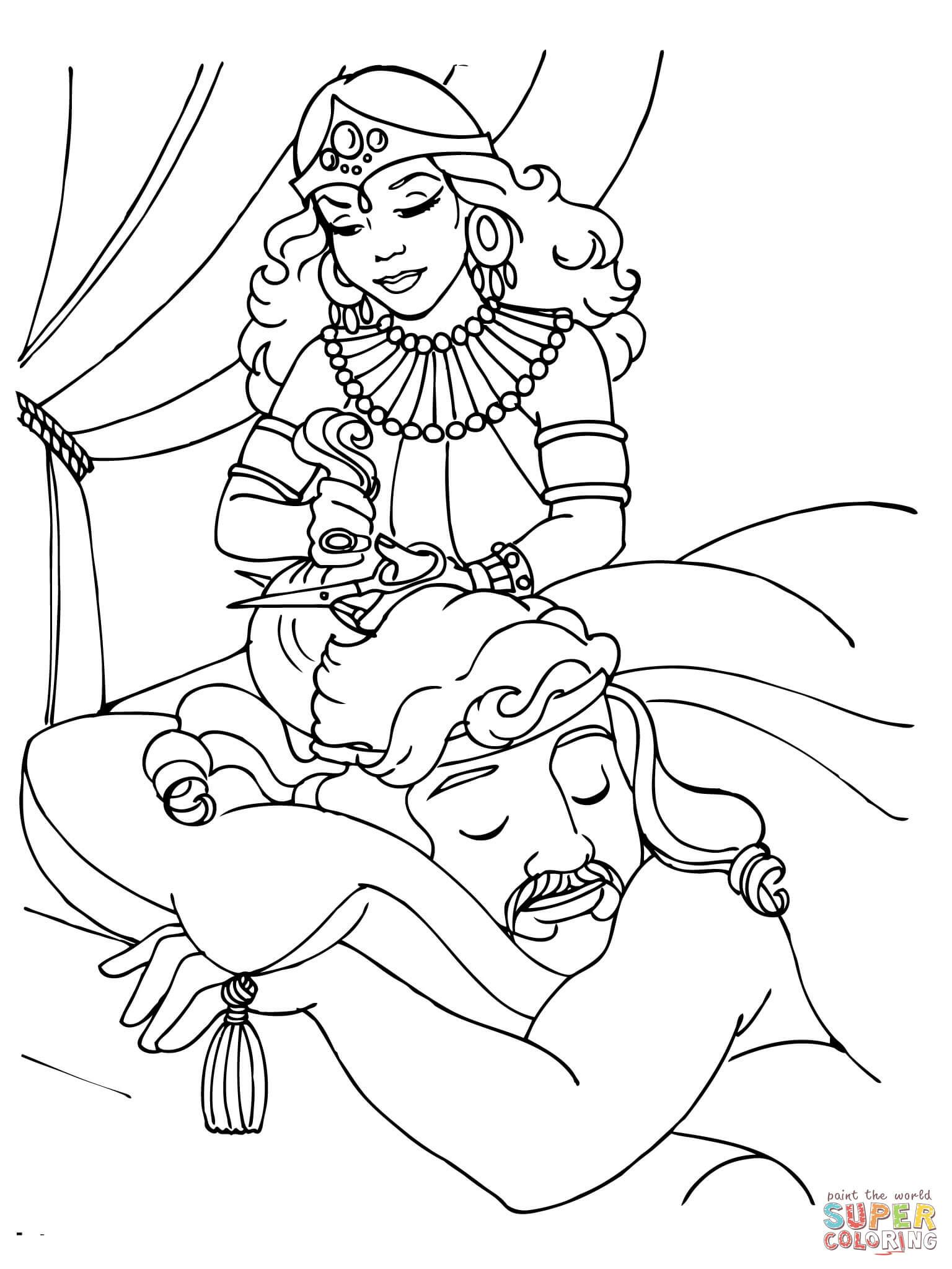 samson and delilah coloring pages samson and delilah coloring page free printable coloring coloring pages and delilah samson