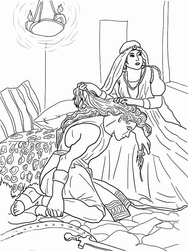 samson and delilah coloring pages samson and delilah coloring pages coloring home pages and samson delilah coloring