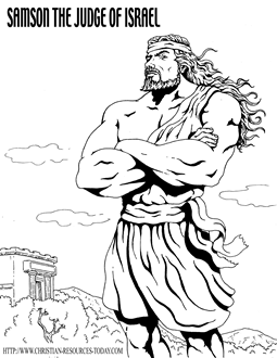 samson bible story coloring pages mfw 1 wk 24 wednesday samson sunday school samson bible pages coloring story