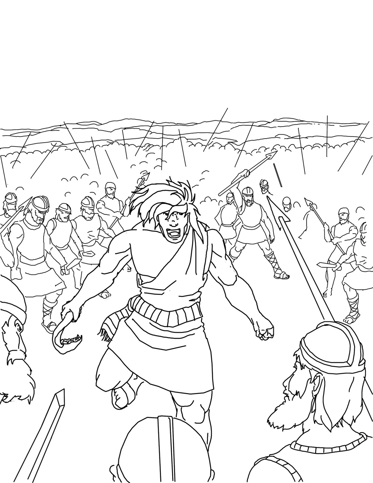 samson bible story coloring pages pin on samson sunday school story samson pages bible coloring