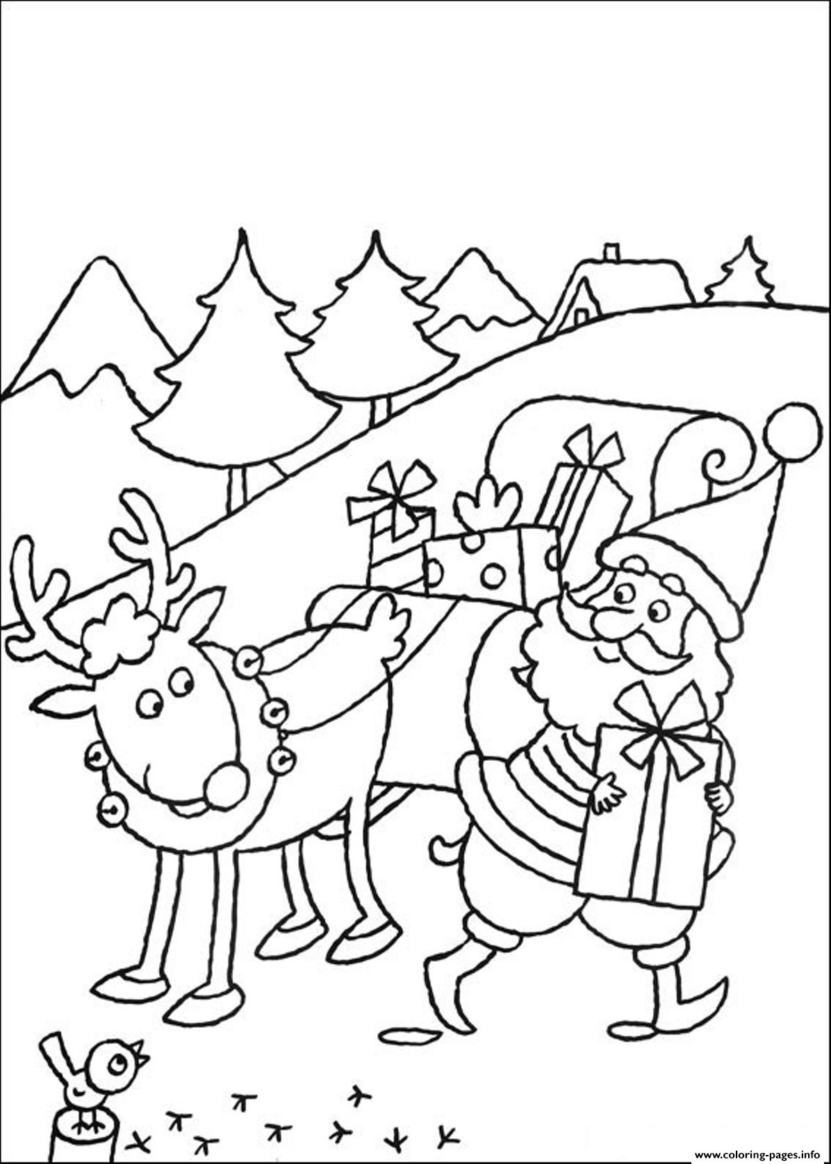 santa and reindeer coloring pages printable santa claus and the red nose rudolph reindeer coloring pages reindeer coloring and santa pages printable
