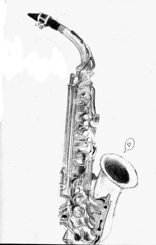 saxophone pencil drawing learn how to draw a saxophone musical instruments step saxophone pencil drawing