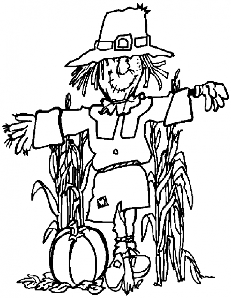 scarecrow for coloring coloring lab for scarecrow coloring