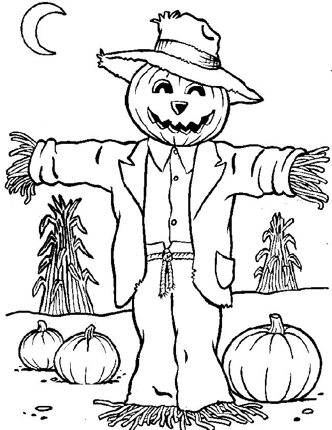 Scarecrow for coloring