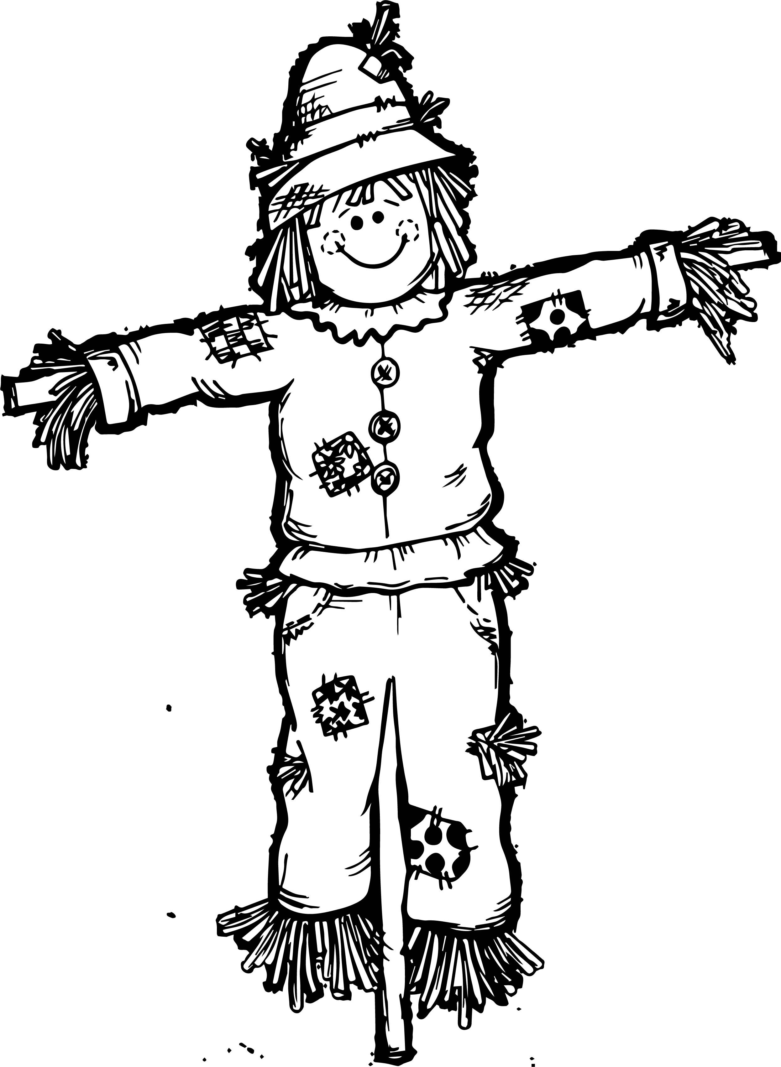 scarecrow for coloring free printable scarecrow coloring pages at getcolorings coloring scarecrow for