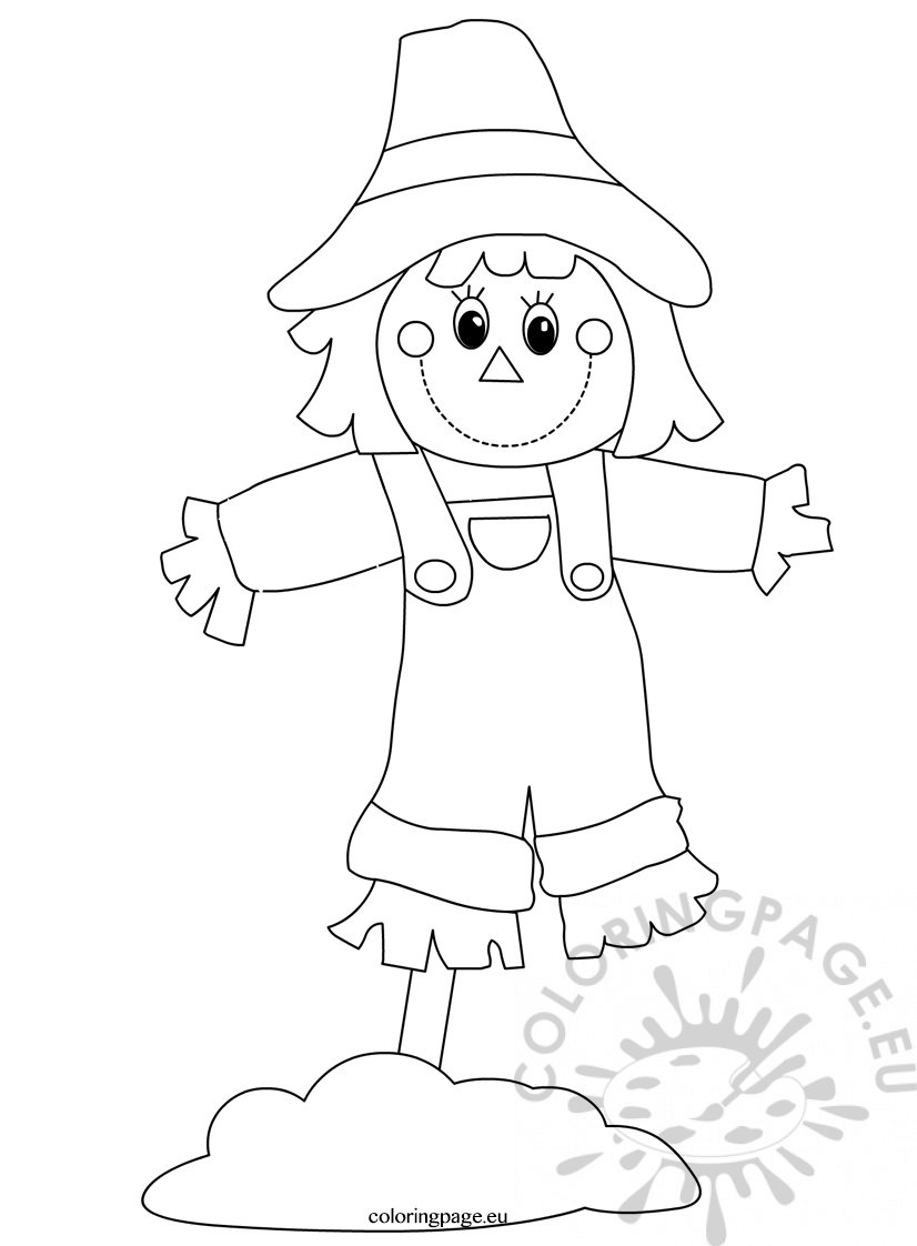 scarecrow for coloring get this free scarecrow coloring pages for toddlers vnspn for coloring scarecrow