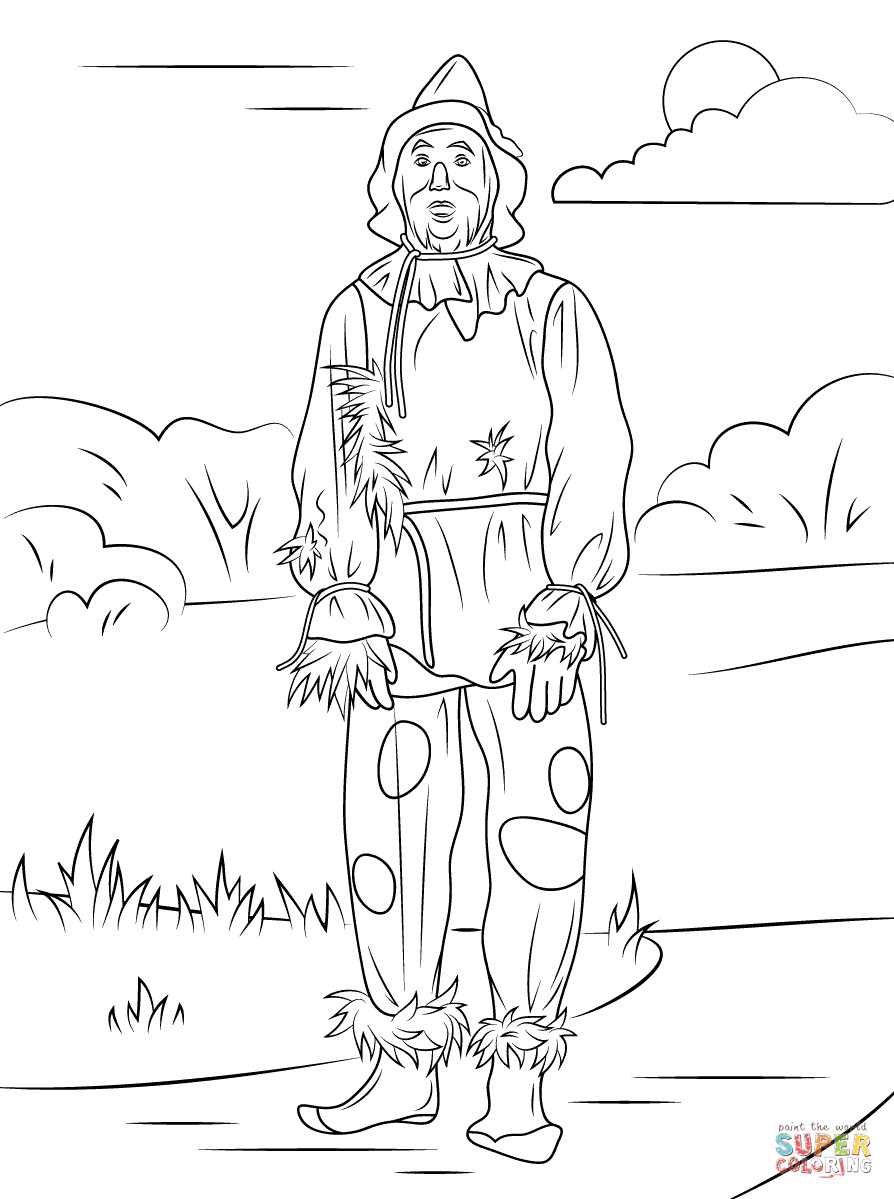 scarecrow for coloring icolor quotscarecrowsquot halloween drawings halloween scarecrow for coloring