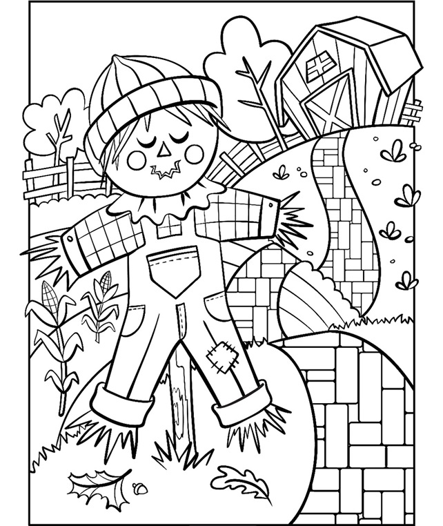 scarecrow for coloring scarecrow coloring page crayolacom scarecrow for coloring
