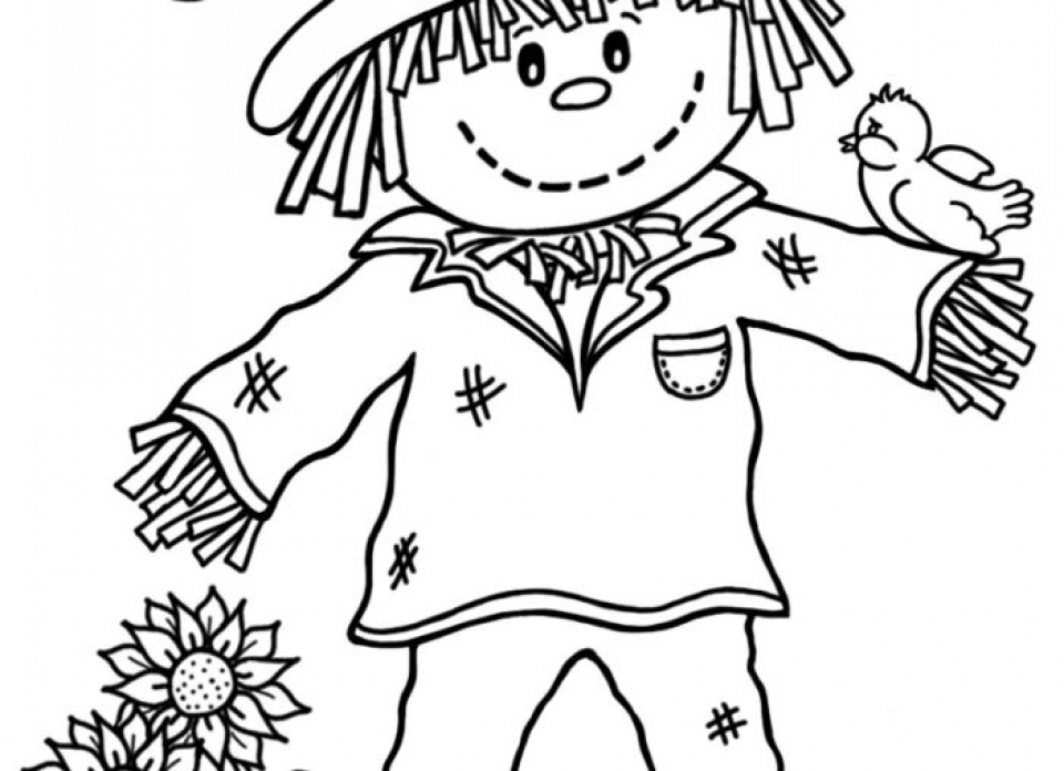 scarecrow for coloring scarecrow coloring pages coloring pages for kids scarecrow for scarecrow coloring