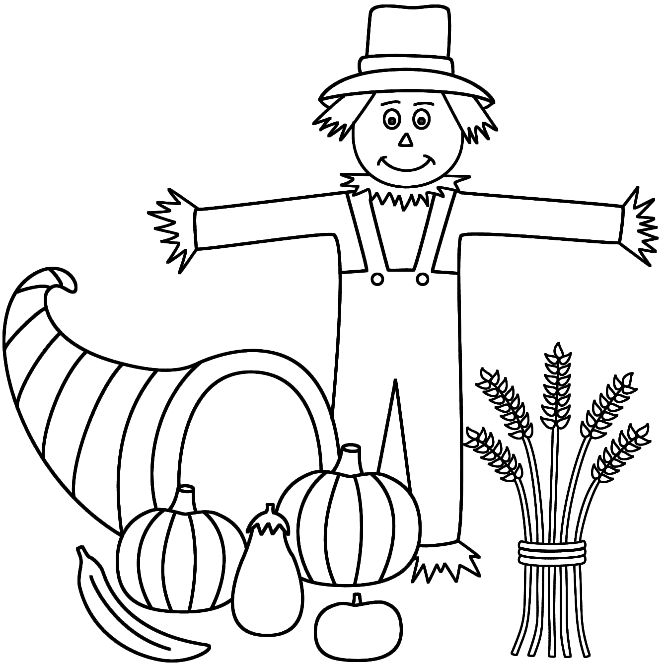 scarecrow for coloring scarecrow coloring pages free large images scarecrow for coloring