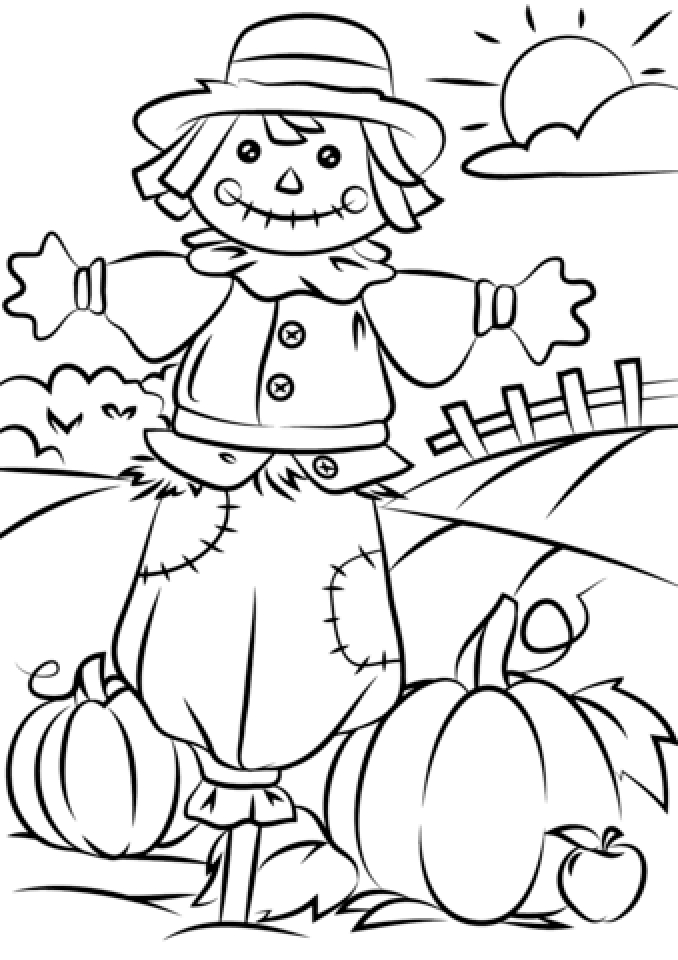 scarecrow for coloring scarecrow coloring pages halloween1 coloring kids scarecrow coloring for