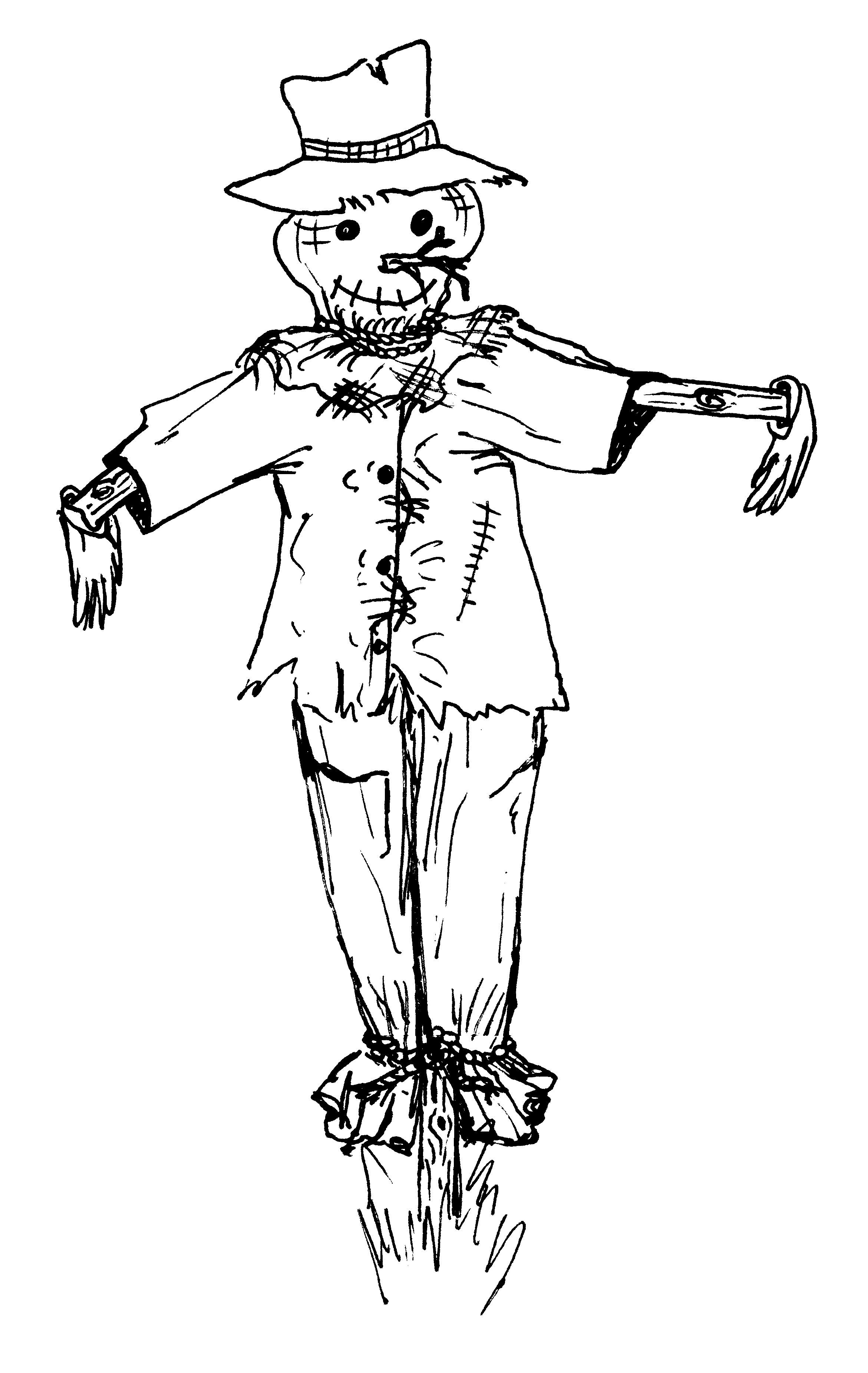scarecrow for coloring scary scarecrow coloring pages creative hobby place for coloring scarecrow