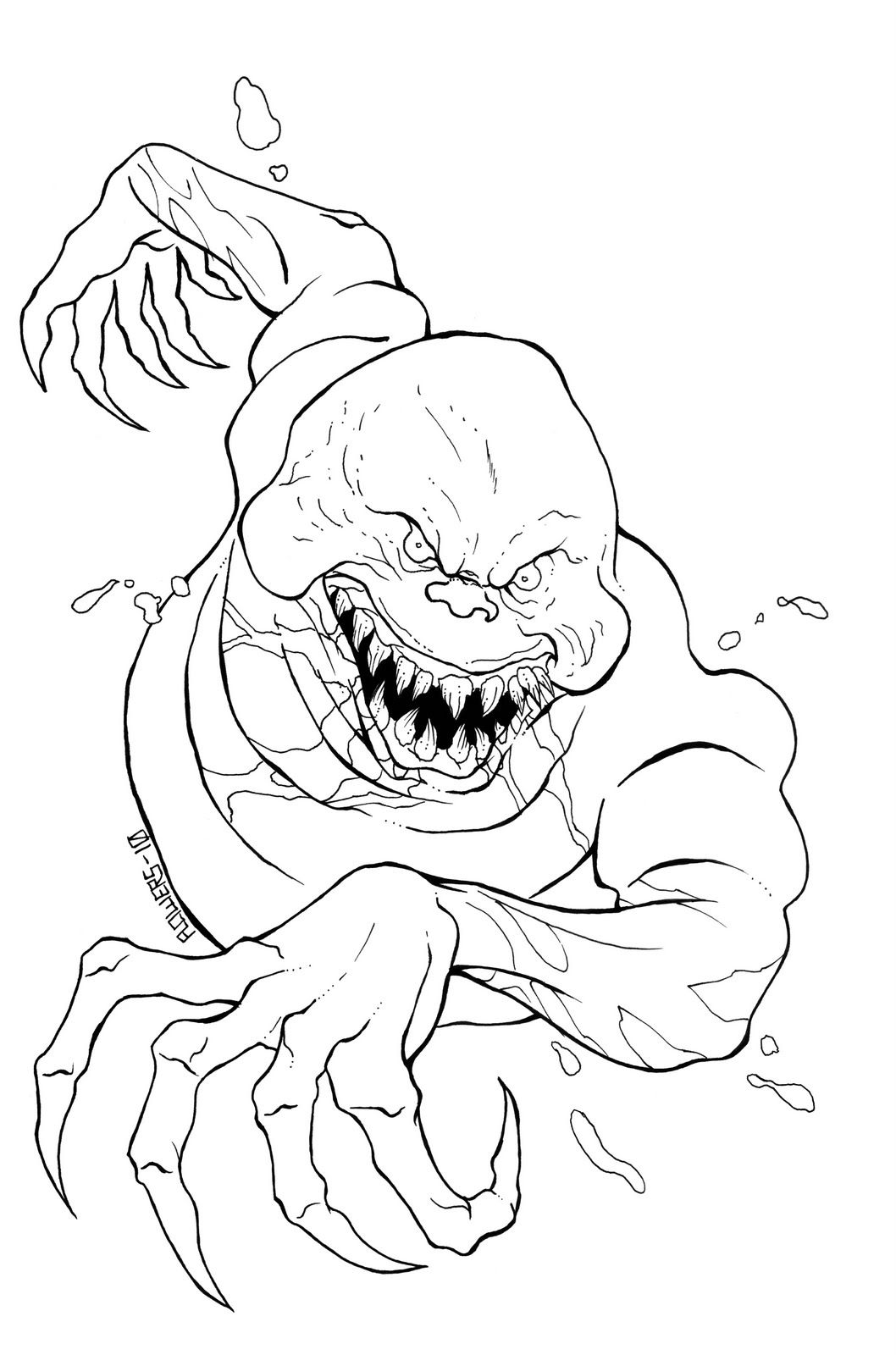 scary monster coloring pages scary monster coloring pages clipartsco pages scary monster coloring