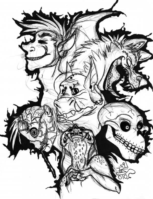 scary monster coloring pages sketch of scary monsters coloring page coloring sky pages scary monster coloring